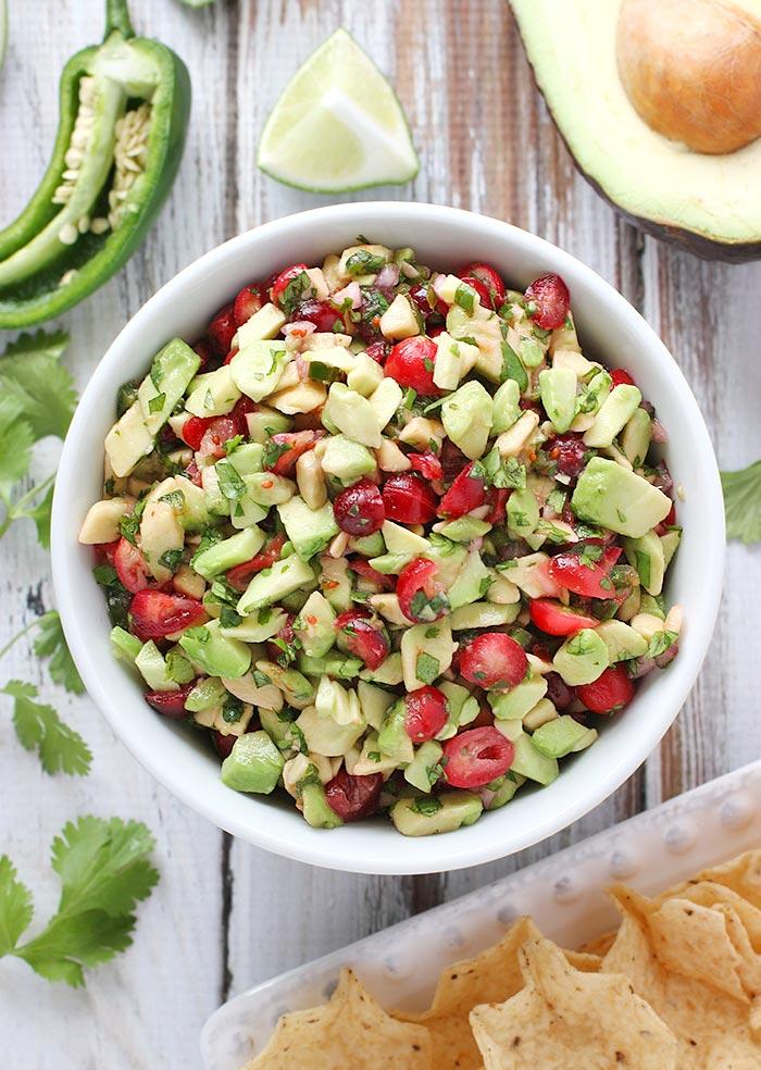Cranberry Avocado Salsa | SoupAddict.com