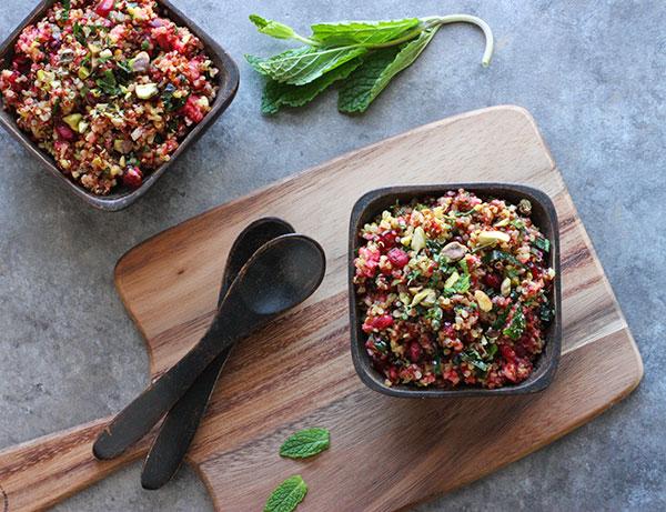 Cranberry Quinoa Kale Salad from SoupAddict.com