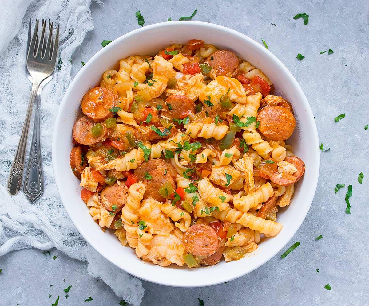Pasta Jambalaya from SoupAddict.com