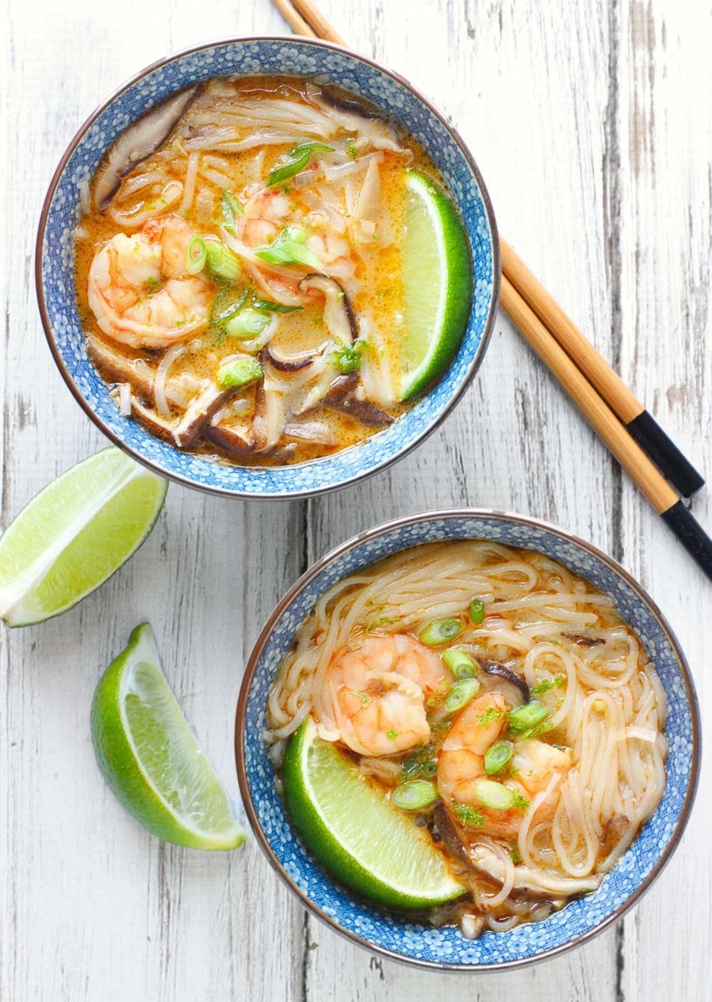 Shrimp Shiitake Curry Soup from SoupAddict.com