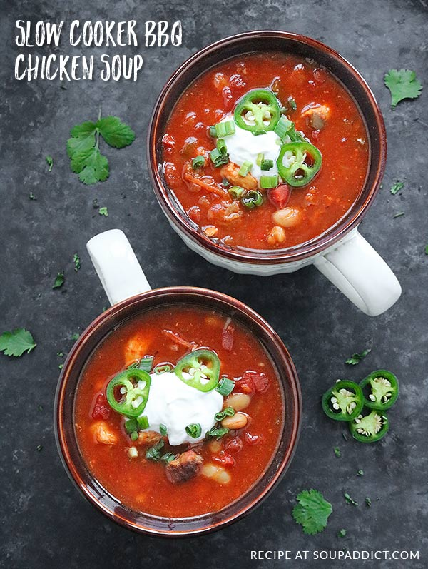 Game day slow cooker bbq chicken soup soupaddict game day slow cooker bbq chicken soup a hearty barbecue chicken soup thats make forumfinder Choice Image
