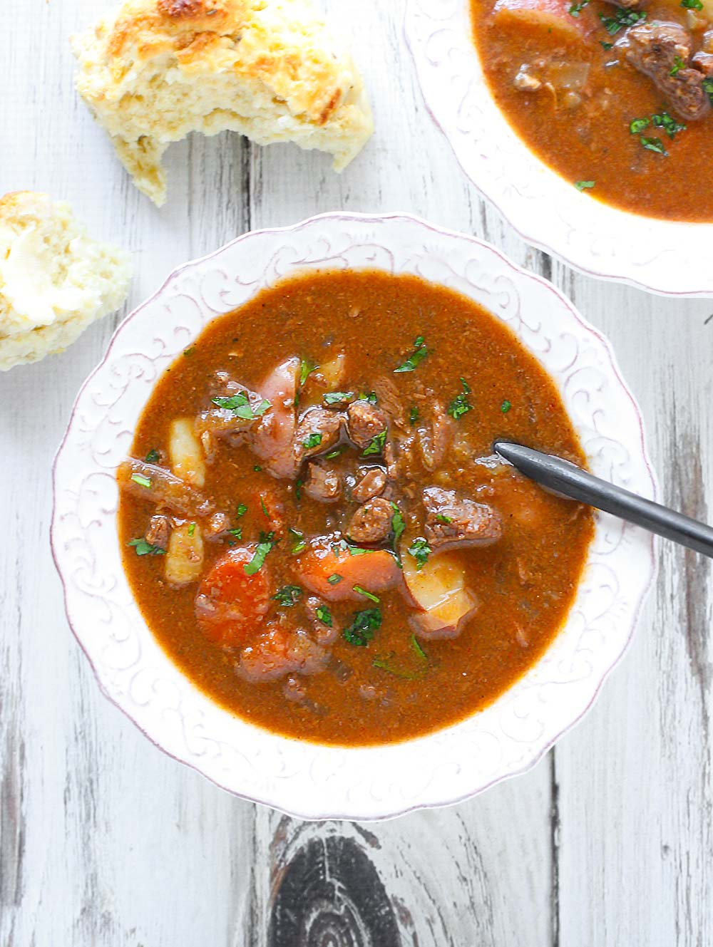 Slow Cooker Guinness Beef Stew from SoupAddict.com