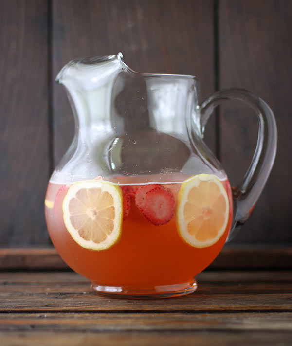 Strawberry Limoncello Sangria from SoupAddict.com