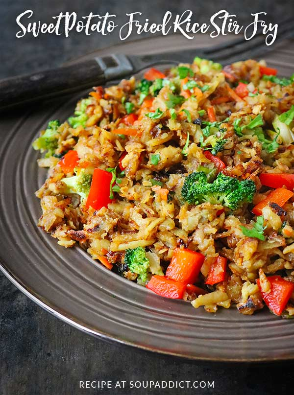 Sweet potato fried rice stir fry soupaddict healthy but filling and gently spiced sweet potato fried rice stir fry is a weeknight ccuart Choice Image