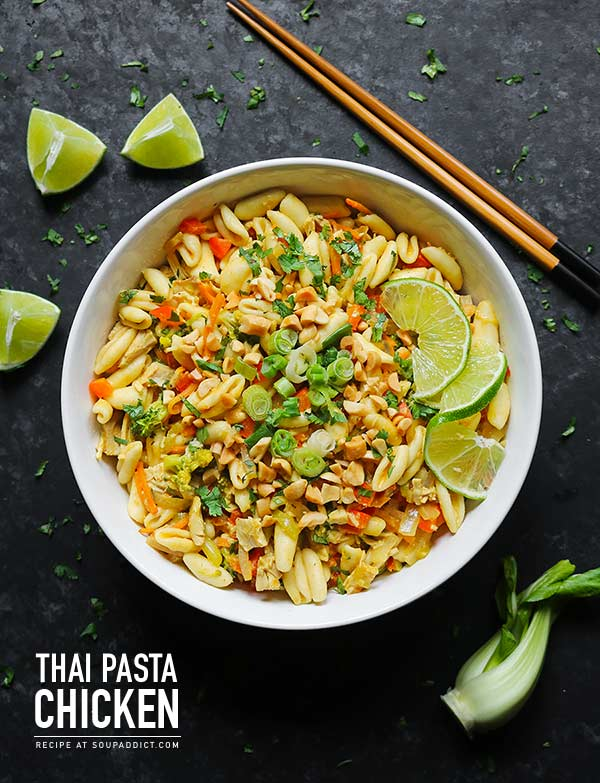 Thai Pasta with Chicken from SoupAddict.com