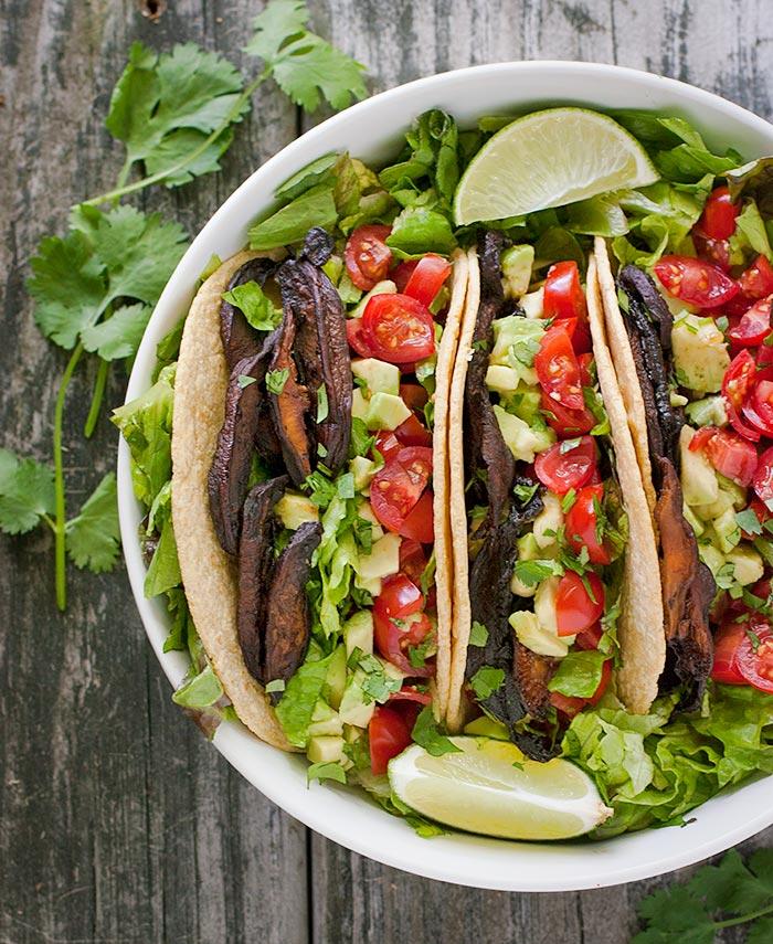 Vegetarian BLT Tacos from Soupaddict.com